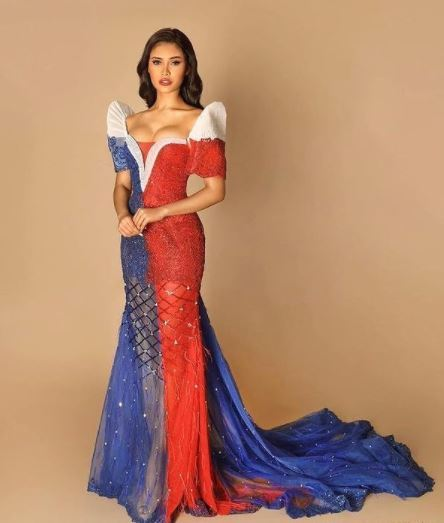 Rabiya Mateo in national flag inspired dress