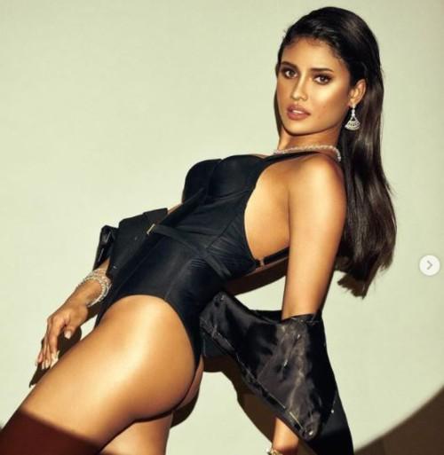 Rabiya Mateo in black swimsuit