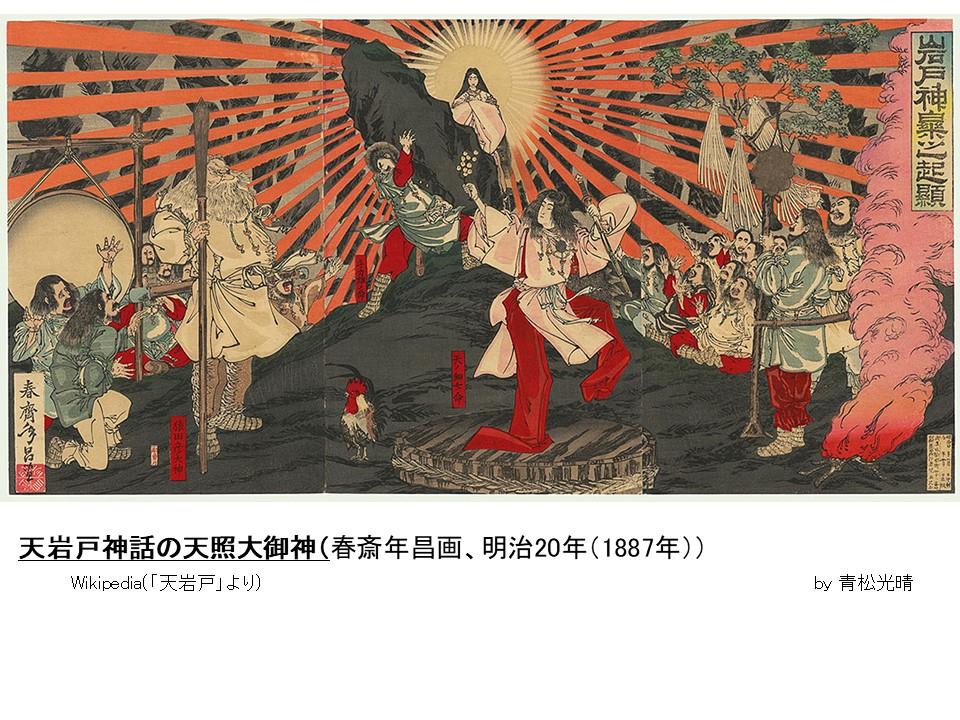 天岩戸神話絵図