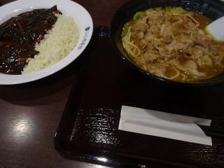 カレー肉そば (8)