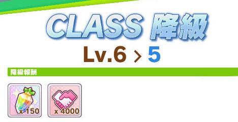 クラス5へ降級