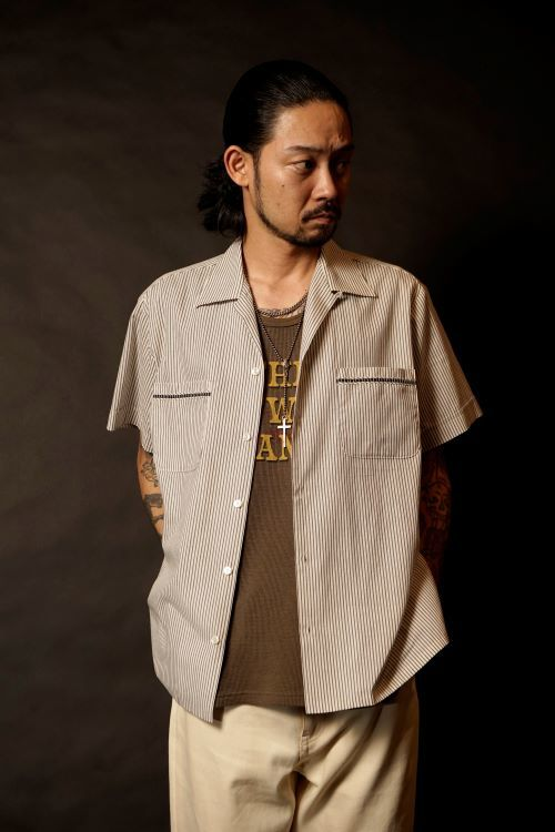 GANGSTERVILLE ROOSTER-S/S STRIPE SHIRTS THUG-SKINNY STRETCH PANTS
