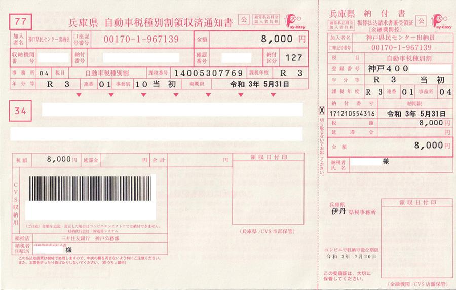 2021自動車税b