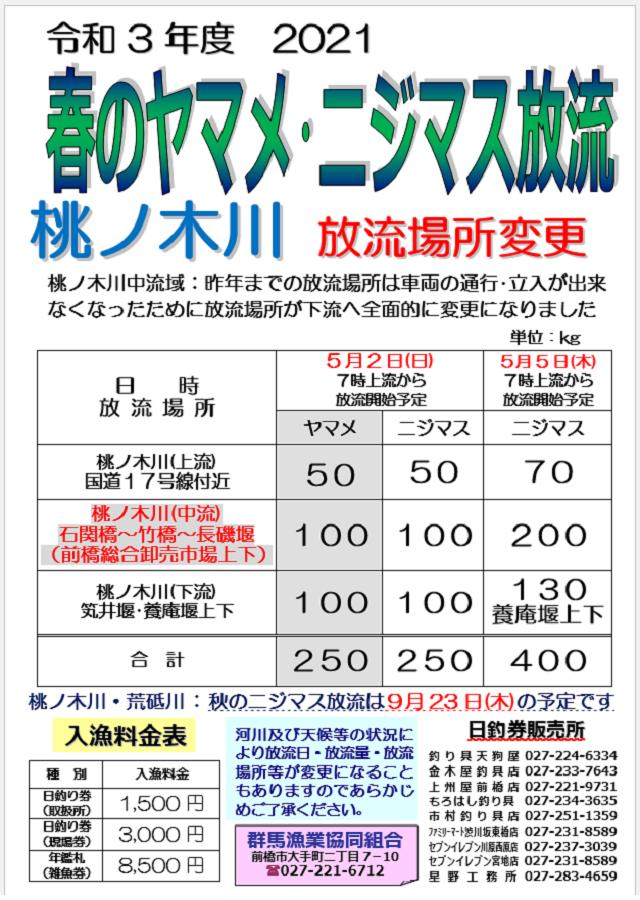 2021桃ノ木川チラシ変更ブログ