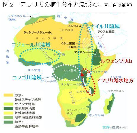 アフリカの植生と3大河
