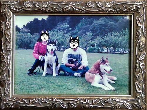 シルヴィ&アイリーンとの家族写真