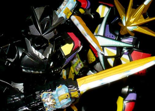 仮面ライダー最光 金の武器 銀の武器