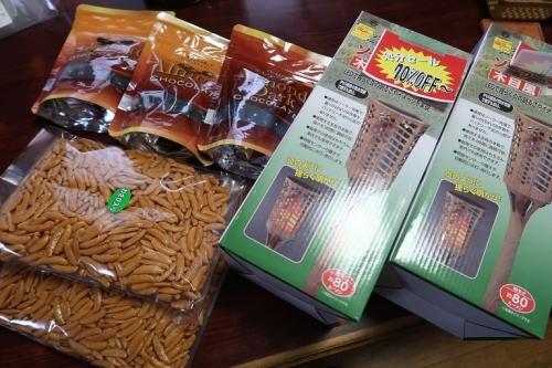 チョコと柿の種とガーデンライト