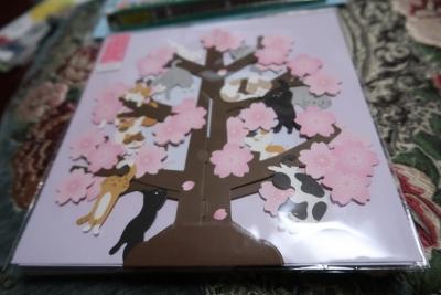 桜にゃんこカード