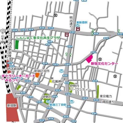 新宿文化センター地図