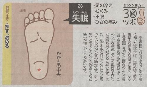 東京新聞 簡単ベストツボ30 失眠