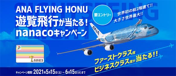 ANAは、ANA FLYING HONU 遊覧飛行が当たるキャンペーンを開催!