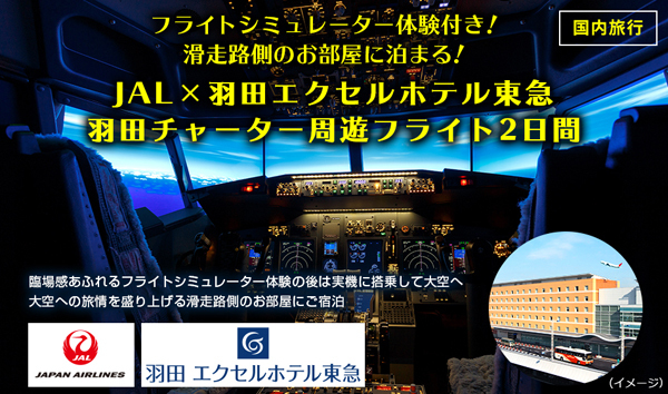 JALは、フライトシミュレーター体験付き遊覧フライト2日間を販売!