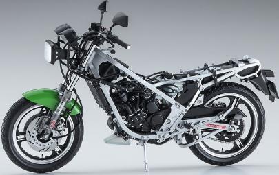 カワサキ KR250(KR250A)アオシマ1/12プラモデル新製品BK12