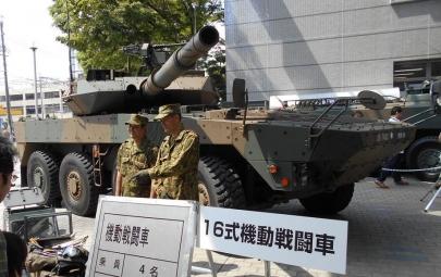 静岡ホビーショー201916式機動戦闘車Type 16 mobile combat vehicle 16MCV陸上自衛隊車両展示ツインメッセ静岡Shizuoka Hobby ShowDSCN1470