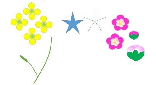 菜の花の書き方