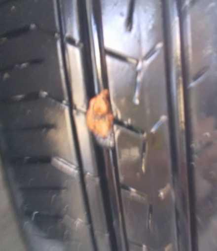 タイヤ修理後