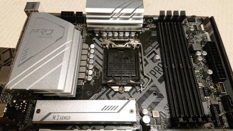 ASRock Z590M Pro4 CPU部分 (2021年4月11日)