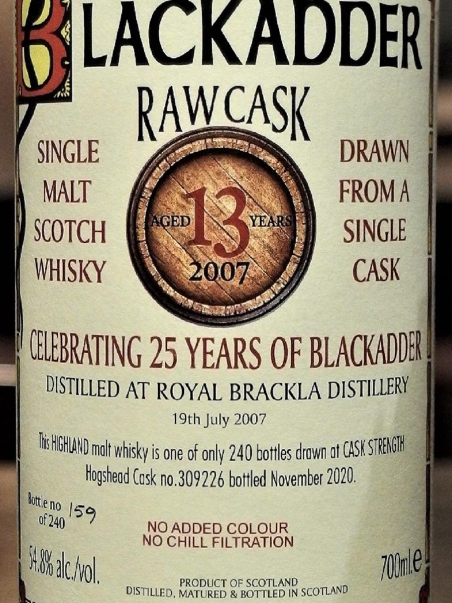 RAW CASK ROYAL BRACKLA 2007_LLL
