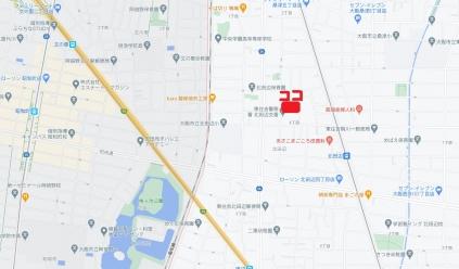 北田辺地図