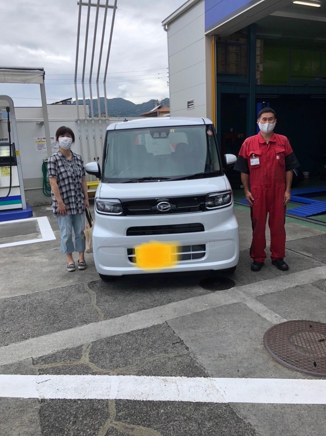 タント納車増田