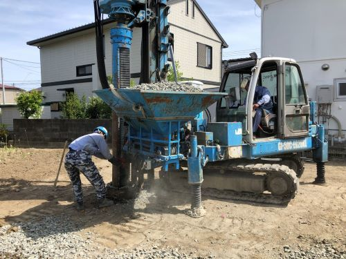 上飯田の家 地盤改良