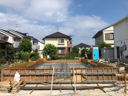 上飯田の家 配筋検査
