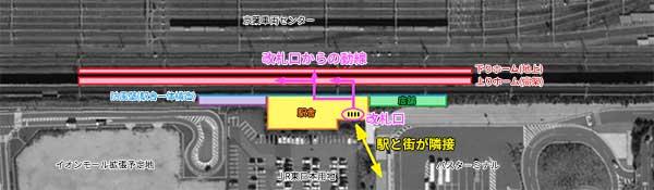 京葉線幕張新駅施設レイアウト