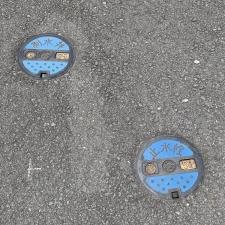 三島市のマンホール(止水栓)