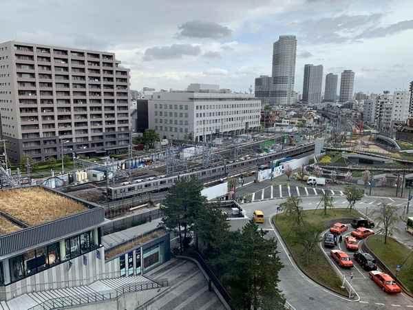 東京ソラマチイーストヤード12番地5階から見た押上駅前広場