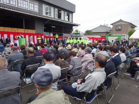 「茨城県河内町 野沢よしはる町長候補」出陣式③