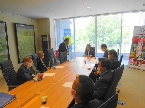 「石岡市長・副市長・経済部長との石岡のおまつりの在り方について協議をしました。」③