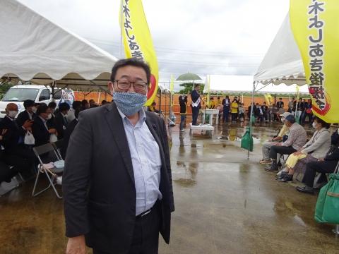 「利根町町長選挙 佐々木よしあき候補」出発式④