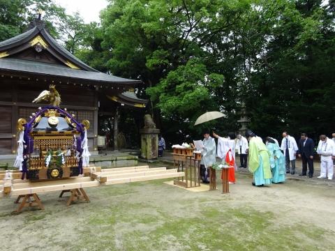 「八坂神社祇園祭」常陸國總社宮境内神輿渡御 (2)