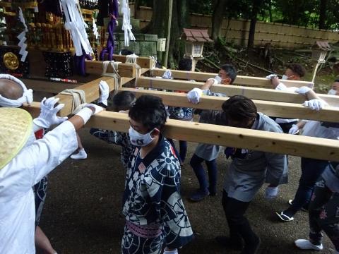 「八坂神社祇園祭」常陸國總社宮境内神輿渡御 (21)