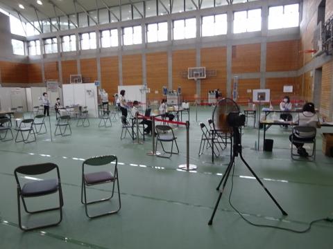 「茨城県庁福利厚生棟でコロナウイルスワクチンを接種しました。」⑤