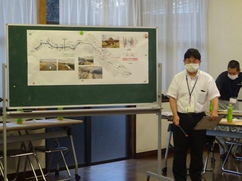 「恋瀬川氾濫対策の地元説明会」片野地区集会場⑧