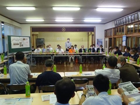 「恋瀬川氾濫対策の地元説明会」片野地区集会場⑨