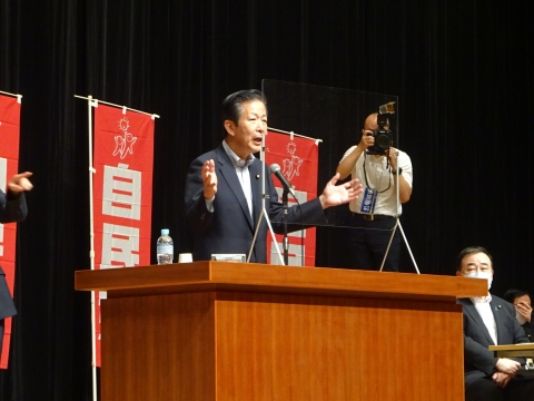 「自民党・公明党合同時局講演会」水戸市ヒロサワシティー会館⑥
