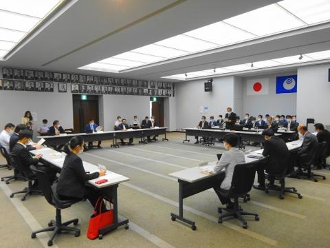 「茨城県議会災害対策会議が緊急開催されました。」 (2)