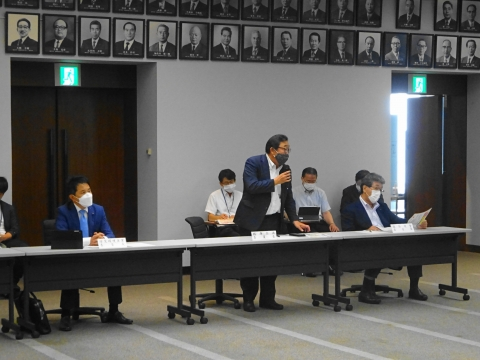 「茨城県議会災害対策会議が緊急開催されました。」 (4)
