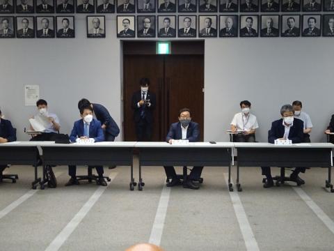 「茨城県議会災害対策会議が緊急開催されました。」 (7)