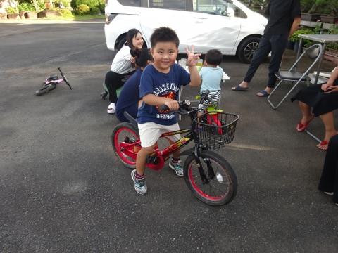 「玲央くんが自転車に乗れるようになりました!」①
