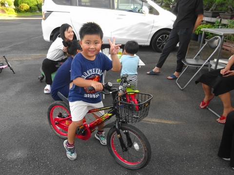 「玲央くんが自転車に乗れるようになりました!」⑩