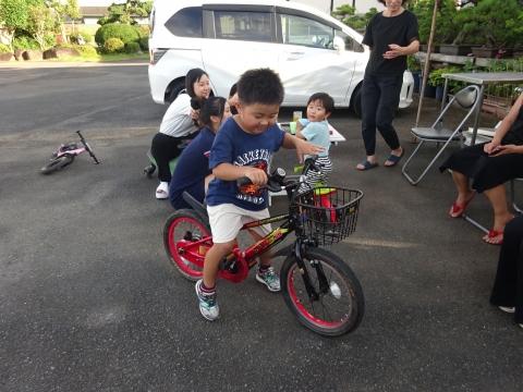 「玲央くんが自転車に乗れるようになりました!」⑨