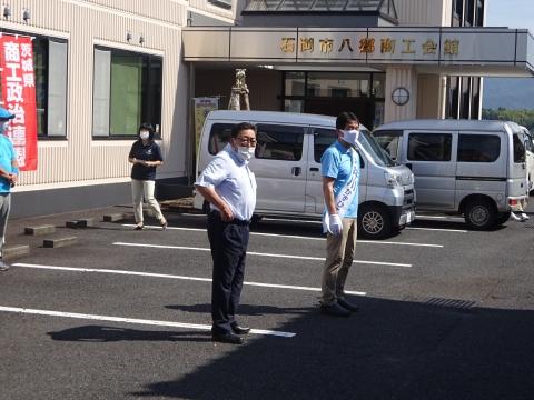 「茨城県知事選挙「大井川和彦」知事候補、石岡市内遊説活動」⑦