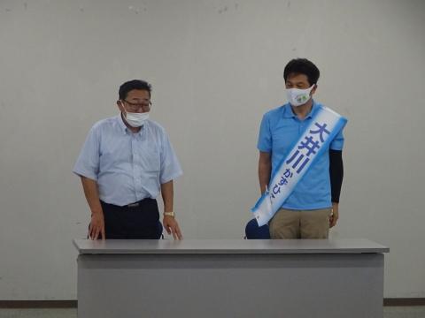 「茨城県知事選挙「大井川和彦」知事候補、石岡市内遊説活動」⑫