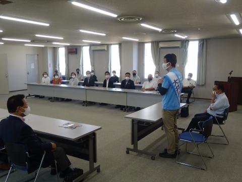 「茨城県知事選挙「大井川和彦」知事候補、石岡市内遊説活動」⑭
