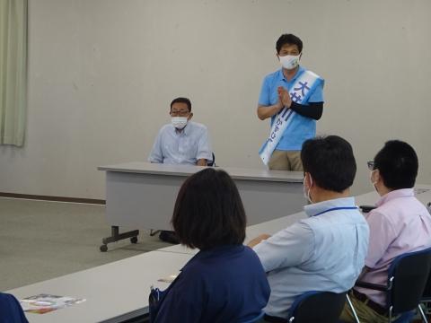 「茨城県知事選挙「大井川和彦」知事候補、石岡市内遊説活動」⑯