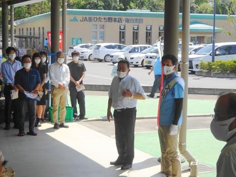 「茨城県知事選挙「大井川和彦」知事候補、石岡市内遊説活動」⑰